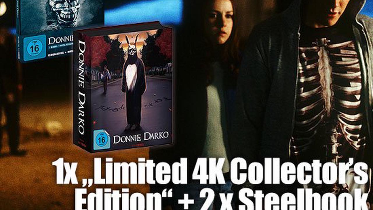 "Studiocanal Home Entertainment verlost ""Donnie Darko"" - 1 x ""Limited 4K Collector's Edition"" + 2 x Steelbook"