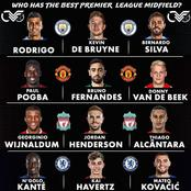 Rate These Players; Which Premier League Team Has The Best Midfield?