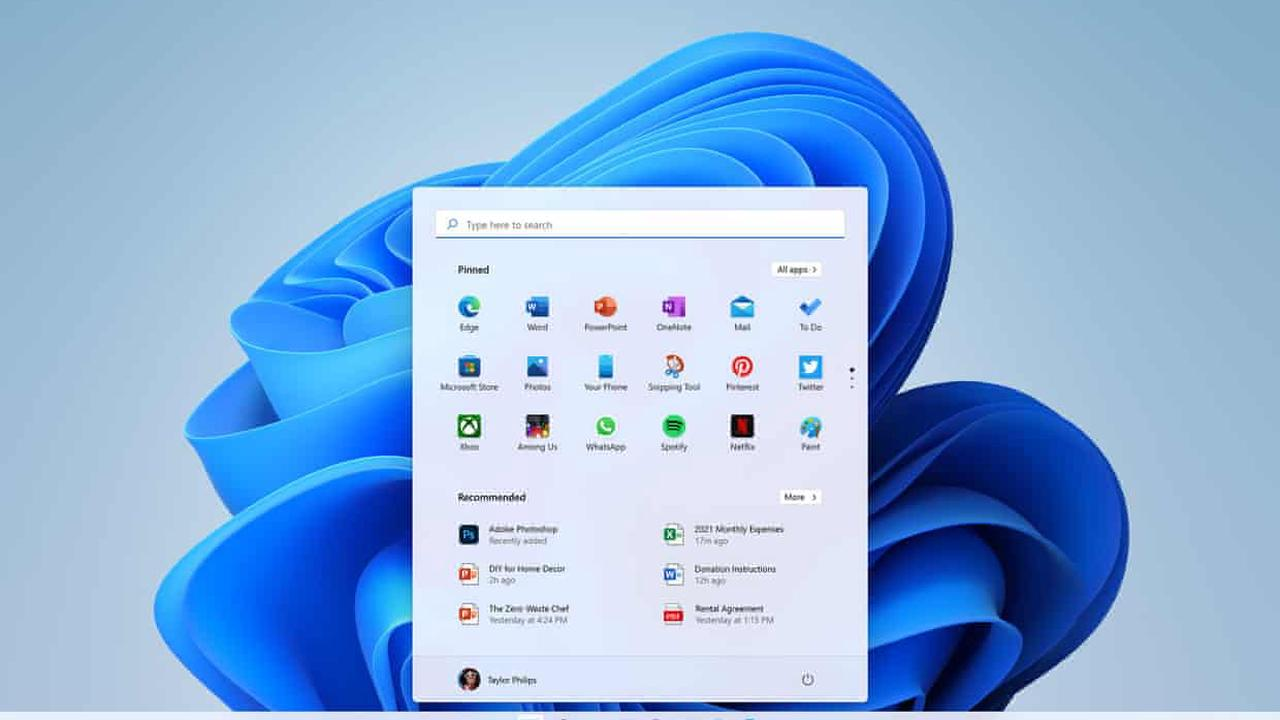 Windows 11: Microsoft revamps start menu and adds Android apps