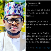 I'm A Nigerian Child And A Nigerian First by Devotion And Adoration— Fulani Man