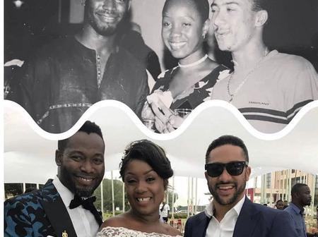 Throwback Majid Michel, Ajetey Anang and wife