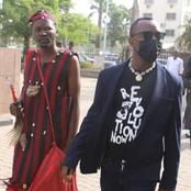 Photo Story of hilarious entrance of Sowore to court with a native doctor