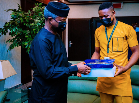 Vice President Yemi Osinbajo Wears Made In Nigeria Shoes, Checkout Who Made His Shoes