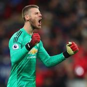 EPL Clean Sheets: See Where De Gea is Ranked Currently After United Drew With Chelsea.