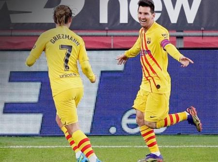 Lionel Messi Becomes The Second Player In History To Equal Antoine Griezman's Record