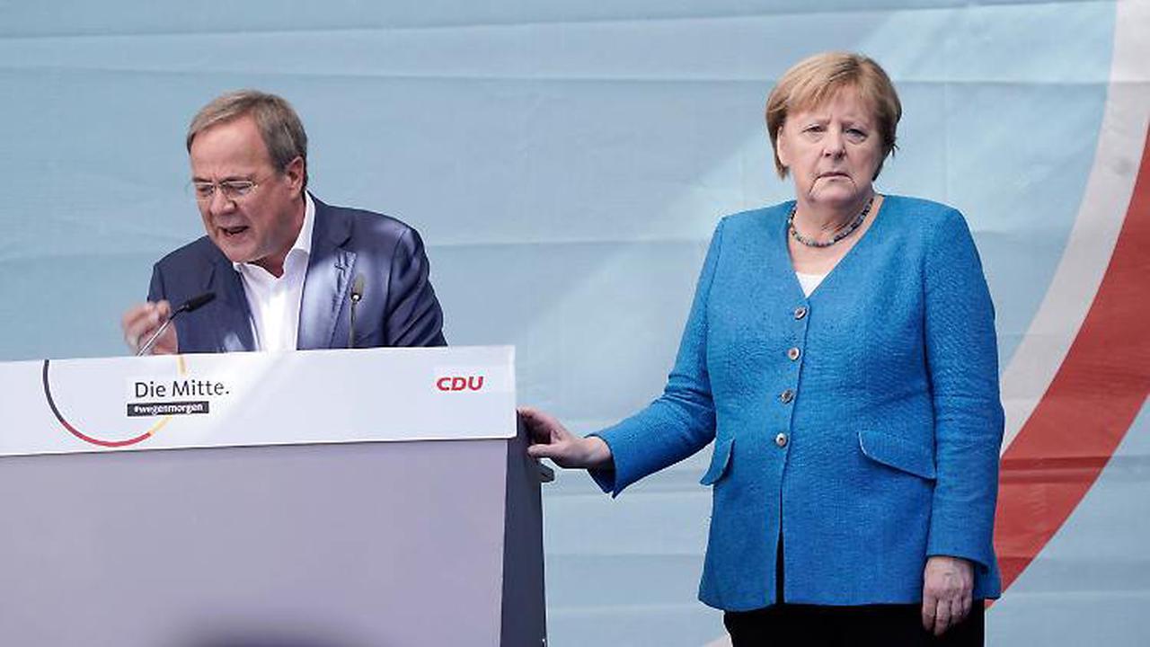 Gemeinsamer Auftritt in Aachen: Merkel nimmt sich nochmal Zeit für Laschet