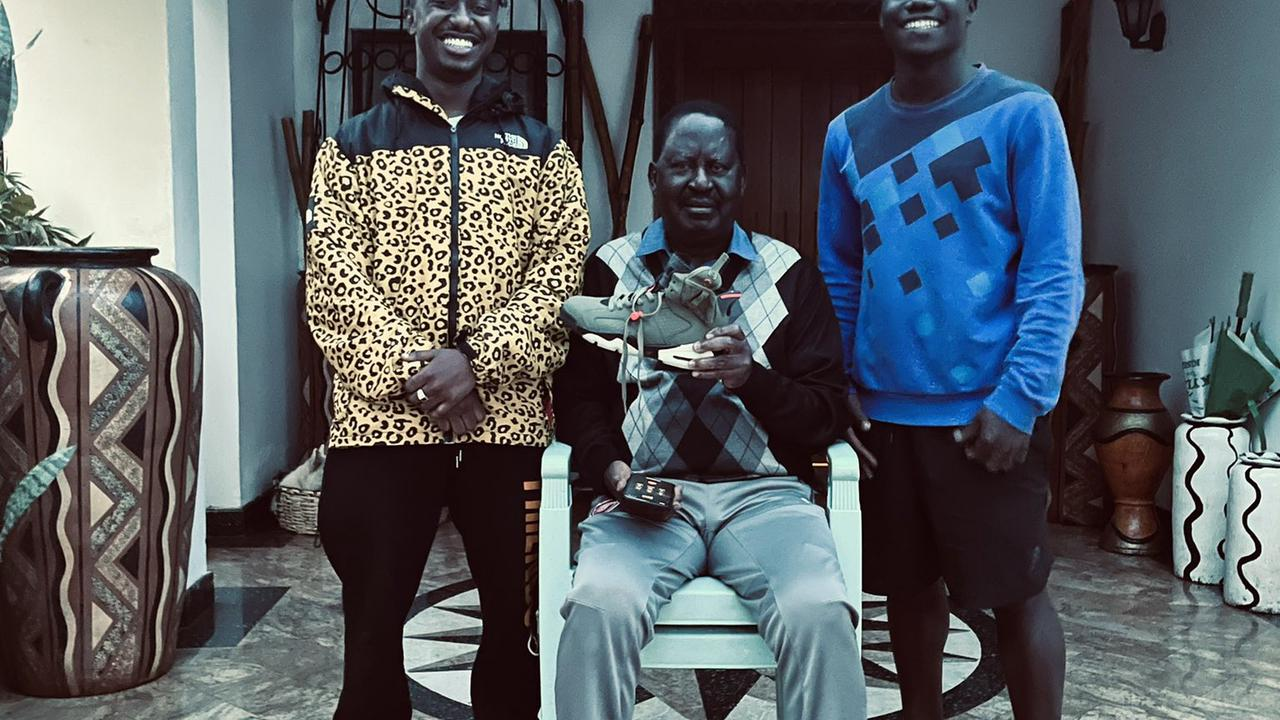 Two Young Men Surprises Raila With These Gifts