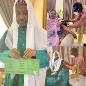 Emir Sanusi Lamido And His Wife, Hajiya Maryam Received Their Covid-19 Vaccine Today [PHOTOS]