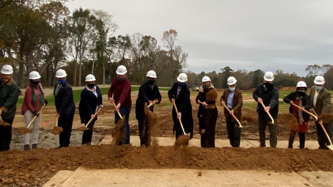 Ceremony marks ground breaking for new Bains elementary School