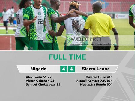Afcon Qualifier: Nigeria vs Sierra Leone Review