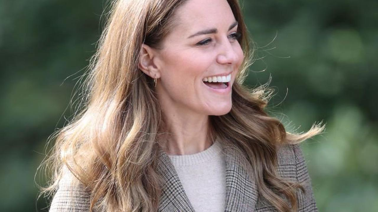 The Duchess of Cambridge goes sailing across Lake Windermere during Cumbria visit