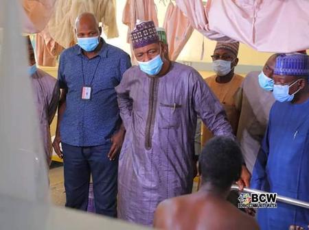 Gov. Zulum Visits And Sympathize With 19 Hospitalized Victims Of Kayamala Bomb Blast At Maiduguri