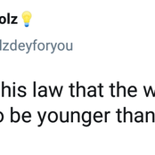 Who Made This Law That The Wife Is Supposed To Be Younger Than The Husband; Question Of The Day