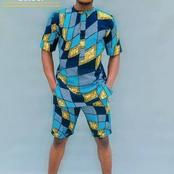 Men: See Unique Ankara Short Styles To Rock This Month