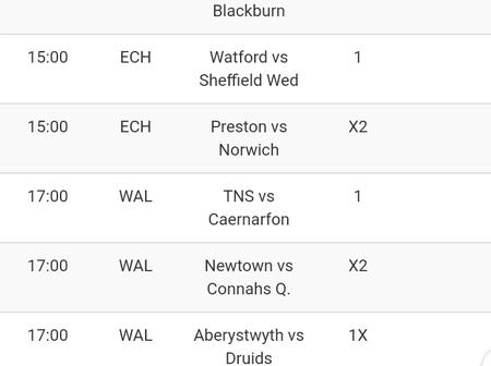 Today's Seven (7)Teams That Will Win You Big This Saturday and Earn You Big Money