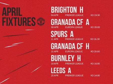 Manchester United's April Fixtures In All Competitions, Can They Win Everything?