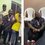 Drama As Davido Sat On The Ground After A Young Boy Performed A Magic Trick On Him
