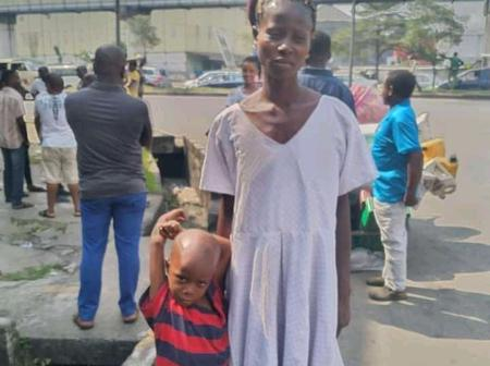 Lady Mourns As Her House Gets Burnt With Her Two Years Old Child In It