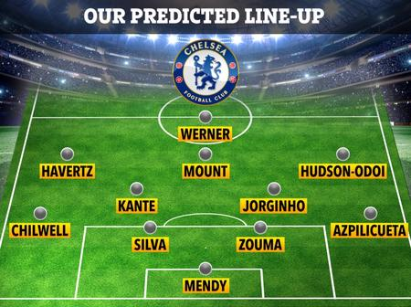 EPL: Chelsea Possible Line Up Against Crystal Palace. Mendy, Silver And Ziyech Included In The Team