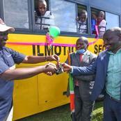 Deputy President Wiliam Ruto Presents School bus to Ilmotiook Secondary in Narok County