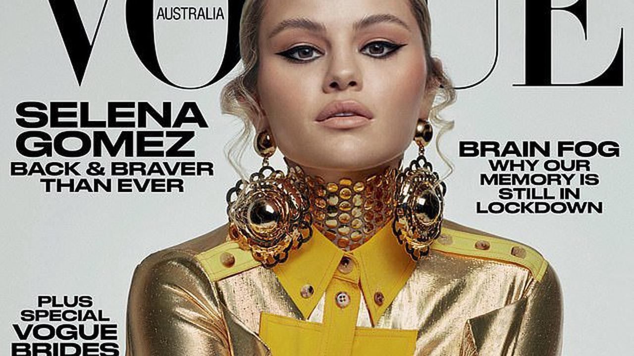 Selena Gomez says her relationships have been 'cursed' and admits she 'never felt equal' to her partners as she stuns on the cover of Vogue Australia