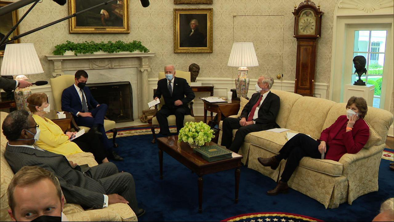 Senate Republicans propose $568 billion infrastructure plan to counter Biden