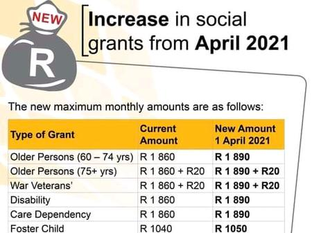 Sassa grants increased from April 2021. This is what you must expect to your Sassa grant.