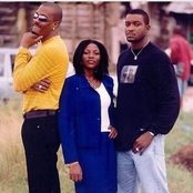 Nollywood actor, Chidi Mokeme shares stunning throwback photos with Genevieve Nnaji and Hank Anuku