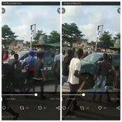 Youths Stops Nigerian Army From Passing Through Gbagada Road As The Army Tried Bribing Them (Video)