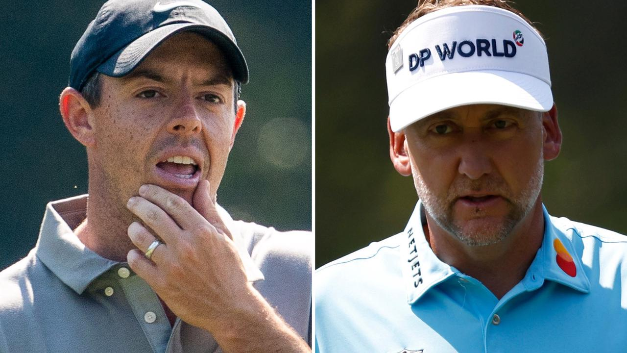 Rory McIlroy hits dad on leg in spluttering start in Masters