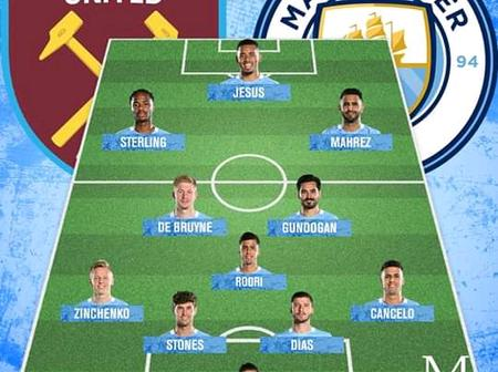How Manchester City Could Line Up at Etihad Stadium against Westham United