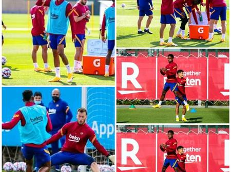 Just A Day After They Were Beaten 1-0, Checkout What Barcelona Players Are Doing