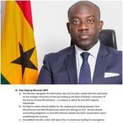Two Critical Reasons Why Oppong Nkrumah Was Rejected By The NDC Caucus Of The Appointment Committee