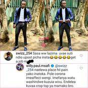 Willy Paul Exchange of Words With Fan Sparks Mixed Reaction Online