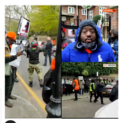 Watch Video As Anti-Buhari Protesters Allegedly Chased Away Pro Buhari Supporters In London