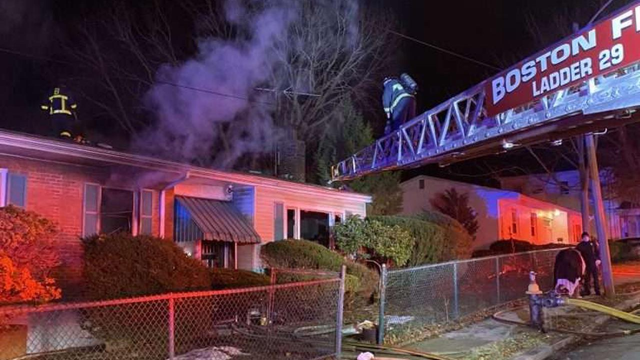 Resident hospitalized after Mattapan house fire