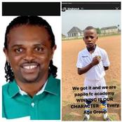 Kanu Nwankwo Showsoff His Boys In Football Academy, Says Winning Is Their Character