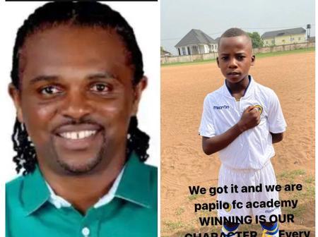 Kanu Nwankwo Showsoff His Boys In Football Academy, Says Winning Is Their Character