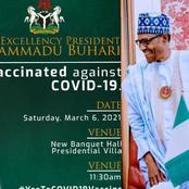 President Buhari Set To Be Vaccinated Today: See The Time, And Location Where He Will Be Vaccinated