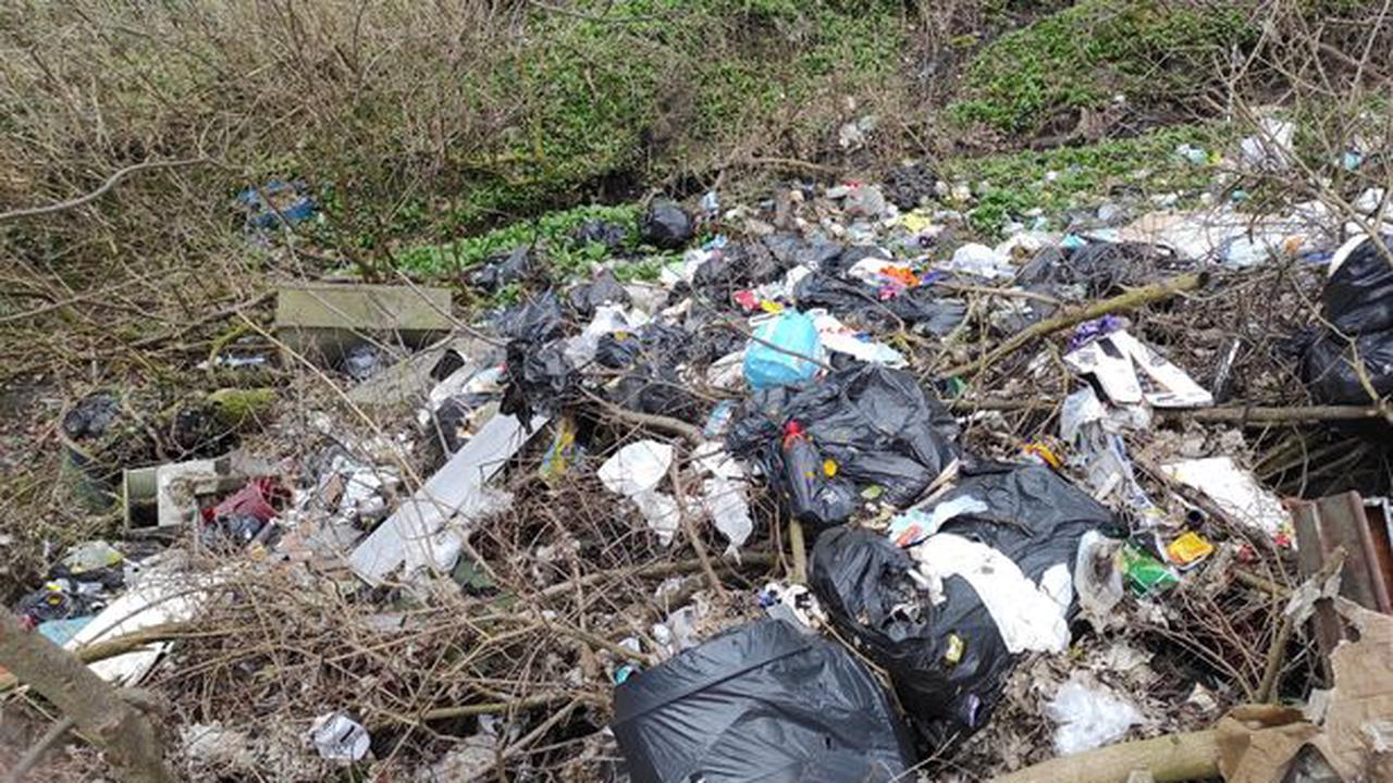 Photos and video show terrible scale of flytipping on Blackstock Road right next to the tip