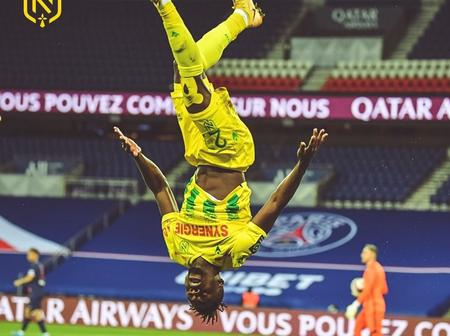 French Ligue 1 fans shower praise on Super Eagles star after netting a winning goal against PSG