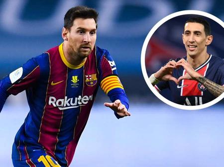 It would be 'wonderful' to play with Messi at PSG, says Di Maria