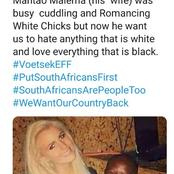 Malema's old photo with a white woman exposed