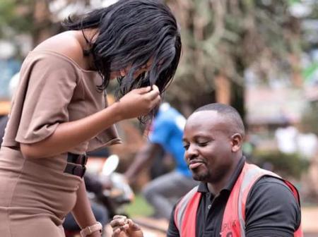 Man blocks traffic; proposes to sweetheart