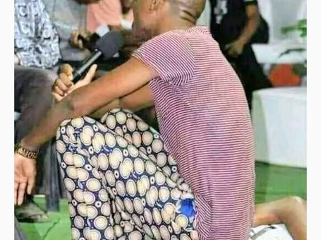 Check Out What A Pastor Was Seen Doing To A Church Member That Caused Reactions On Facebook