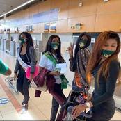 La Miss Maryline et ses dauphines sont bien arrivées à Dubaï, voici leurs premières photos