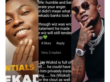 Reekado Banks Finally Clears The Air After Wizkid Called Him A Fool - Checkout What He Said