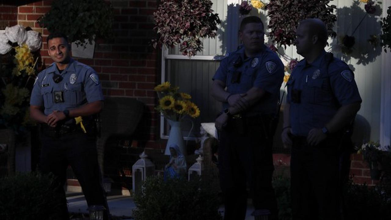 United States: the white policeman, having killed an unarmed African-American, sacked