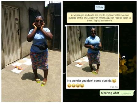 Lady shares how a man messaged her on WhatsApp to insult her because she has bowleg