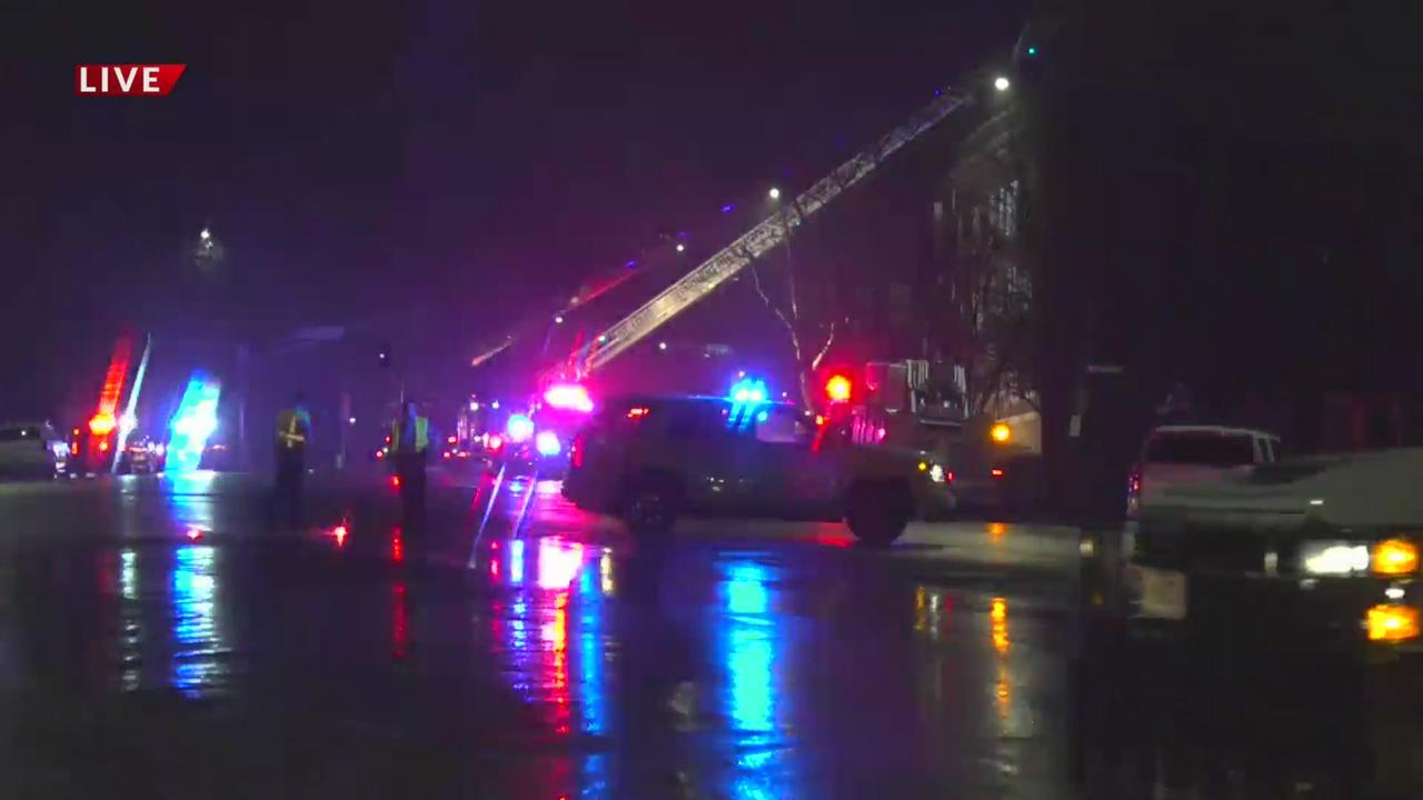 7 taken to the hospital after St. Louis apartment building fire